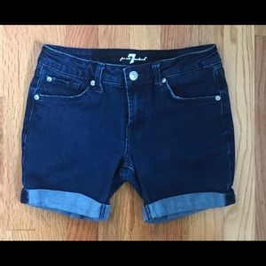 7 For All Mankind Kids Jean Shorts